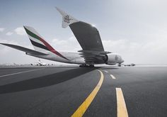 Emirates A380 ✈ | Follow civil aviation on AerialTimes. Visit our boards on pinterest.com/aerialtimes or like us on www.facebook.com/aerialtimes