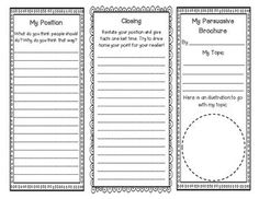 Fiction Brochure Reading Response And Graphic Organizer  Literacy