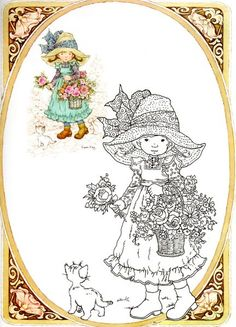 Visita la entrada para saber más Fairy Coloring Pages, Cat Coloring Page, Coloring For Kids, Adult Coloring Pages, Coloring Books, Sara Kay, Holly Hobbie, Stencil Patterns, Manga Illustration