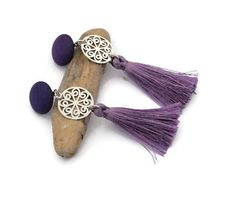 These gorgeous violet tassel earrings are very trendy! These Boho and fringe earrings are perfect to finish your outfit and are a great gift for her! Purple Earrings, Fringe Earrings, Pendant Earrings, Tassel Earrings, Clip On Earrings, Statement Earrings, Angel Wing Earrings, Perfect Mother's Day Gift, Valentines Gifts For Her