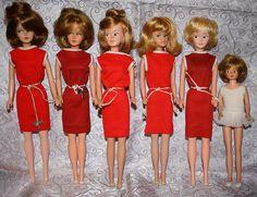 American Character Tressy dolls.