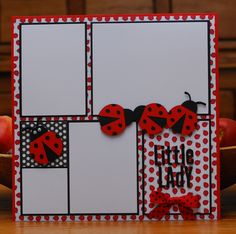 Ladybug scrapbook page by A Page