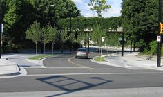 Raised cycle tracks are bicycle facilities that are vertically separated from motor vehicle traffic. Many are paired with a furnishing zone between the cycle… Vancouver, National Association, Paths, Transportation, Track, City, Bicycle, Bicycle Kick, Bike