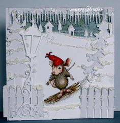 Heather's Haven, House Mouse stamp jj