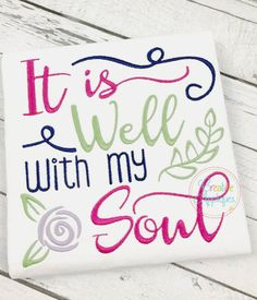 It Is Well With My Soul Embroidery