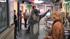 Check out this footage of Winter the dolphin paying a very special visit to the pediatric units at Tampa General Hospital and All Children's during the Winter Holidays.