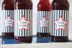 wrap printables around bottled soda for an authentic, personalized vibe..for any holiday!!