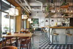 Główna Osobowa Bar and Restaurant in Gdyna, Poland by PB/STUDIO and Filip Kozarsk | Yatzer