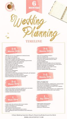 Take a look at the best wedding planning timeline in the photos below and get ideas for your wedding!!! Stay on top of your wedding planning with Brides Entertainment's detailed month by month timeline! Image source Wedding Bells: the Wedding… Continue Reading →
