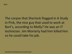 Sherlock head canon. Submitted by Anonymous