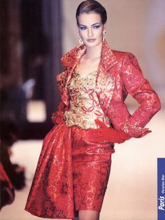 Karen Mulder for Dior 1991