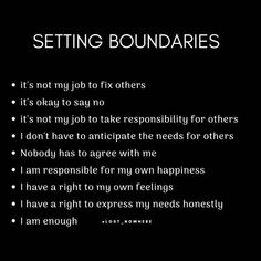 Lack of boundaries and self love is what contributed to my toxic narcissist vs Empath nightmare! The Universe had to shaken me to awaken me! These NARCS were brought to us for a reason and on a spiritual level so we can become our highest self and learn t Positive Quotes, Motivational Quotes, Inspirational Quotes, Negative Thoughts Quotes, Note To Self, Self Love, Relation D Aide, Boundaries Quotes, Personal Boundaries