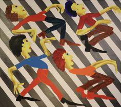 Limbo Dancers Walking On Crossroad/Maarit Korhonen, acrylic, oil sticks, canvas, 81cm x 92cm Dark Paintings, Original Paintings, Dancer In The Dark, Sports Painting, Autumn Painting, Original Art For Sale, Online Painting, Figurative Art, Find Art