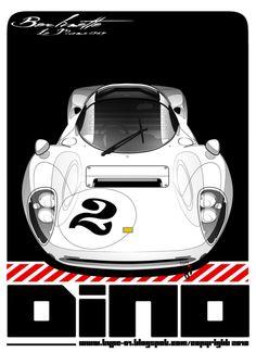 ferrari 206s dino - 1965 - illustration type-01