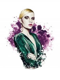 #illustration #fashionillustration #fashionportrait #portraitdrawing #illustrator #fashionillustrator #art #fashionart #fashionblogger #purple #green #blonde #chic