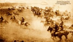 On this day in history, September 16, 1893: The Cherokee Strip Land Rush, a race to stake a claim on this valuable strip of Oklahoma land, began. It was one of the last land rushes in the United States. Photo courtesy of the Cherokee Strip Land Rush Museum.