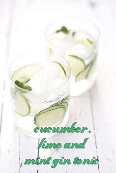 Cucumber. Lime and Mint Gin Tonic