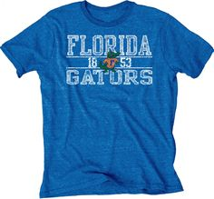 Florida Gators Blue 84 Blue 1955 Retro Logo Tri-Blend Short Sleeve T-Shirt