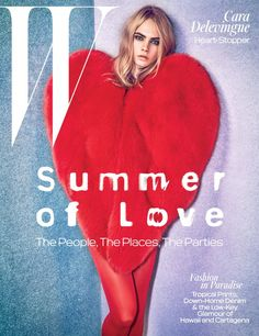 Pin for Later: Cara Delevingne Looks Right at Home Reprising Her Modeling Role For W