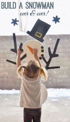 Too cold to go outside? Build an indoor snowman - great indoor activity!