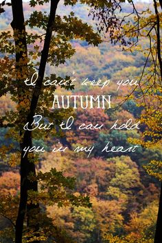 MAY ALL SEASONS BE SWEET TO THEE: Autumn