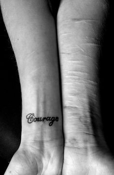 Beautiful picture: in the courage it took to overcome, and to share...