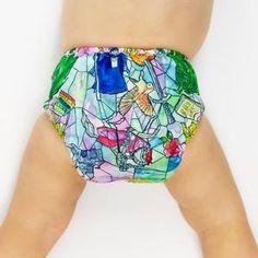 Designer Bums - Art Pop Ai2/lomme, One Size Tøybleie