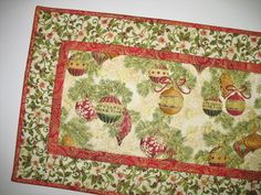 Christmas Table Runner Quilted  from Kaufman by PicketFenceFabric, $39.00