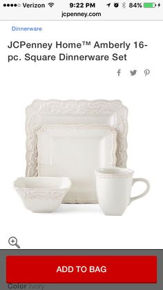 Amberly square dishes JCPenney  sc 1 st  Pinterest & The Pioneer Woman Farmhouse Lace Dinnerware Set 12-Piece... https ...