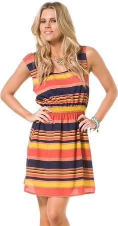 ANGIE BOLD STRIPE DRESS > Womens > Clothing > Dresses | Swell.com