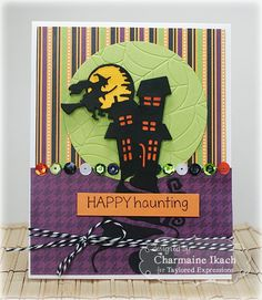 Happy Haunting Card by Charmaine Ikach #Halloween, #Cardmaking, #TEMatched…