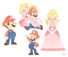 gigidigi: a plumber + a princess Super Mario Brothers, Super Mario Bros, Super Mario Nintendo, Nintendo Characters, Video Game Characters, Cute Characters, Peach Mario, Mario And Princess Peach, Metroid