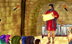Josiah Renews the Covenant 2 Kings 22, King Josiah, World Photo, The Covenant, Stage, Children, Book, Painting, Young Children