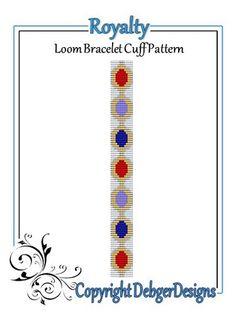 Royalty+-+Loom+Bracelet+Cuff+Pattern