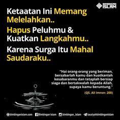 Sabar sabar dan sabar dalam ketaatan Quran Verses, Quran Quotes, Muslim Quotes, Islamic Quotes, Islamic Academy, Sabar Quotes, All About Islam, Learn Islam, Islamic Messages