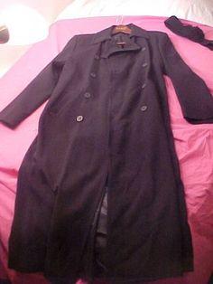 Donna Karan NY  sz M Black Wool OverCoat New NWT