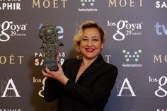 """Premio """"mejor actriz de reparto"""". Carmen Machi, por 'Ocho apellidos vascos'. #goya2015 #federopticos #premiados"""