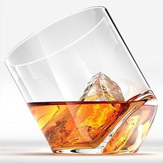 Whiskey Gifts for Your Girlfriend. Rocker Whiskey Glasses, Scotch Glasses By Ashcroft - Set of Unique, Elegant, Dishwasher Safe, Glass Liquor or Bourbon Tumblers. Whiskey Gift Set, Good Whiskey, Cigars And Whiskey, Liquor Glasses, Whiskey Glasses, Whisky Bar, Modern Glass, Drinking Glass, Glass Design