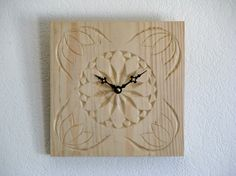Chip Carved Tulip Clock