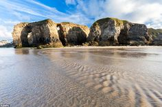 Best of the UK: Perranporth Beach in Cornwall scooped fifth place in the UKs most amazing beaches awards British Beaches, Uk Beaches, Beautiful Places In England, Most Beautiful Beaches, Places In Europe, Places To Travel, Devon And Cornwall, North Cornwall, Cool Places To Visit