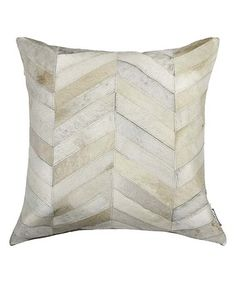 Look what I found on #zulily! Natural Torino Chevron Cowhide Leather Throw Pillow #zulilyfinds