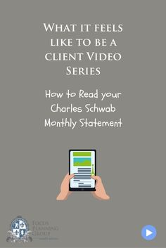 How to Read Your Charles Schwab Monthly Statement  Often times I get calls from clients who need help figuring out what exactly their Charles Schwab monthly statement says. Well you are not alone, It even takes me a few times to read through them so I can explain the accounting.