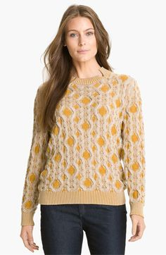 Lafayette 148 New York Cable Knit Sweater available at #Nordstrom