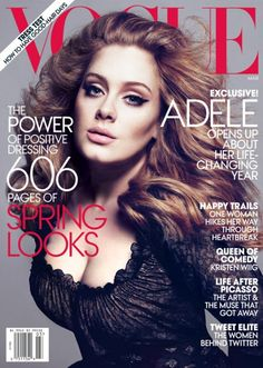 CeleBeauty Watch: Adele Covers the 'Power Issue' of  Vogue March 2013