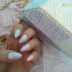 Iridescent Pastels - These Holographic Nails Will Give You Major Nail Envy - Photos