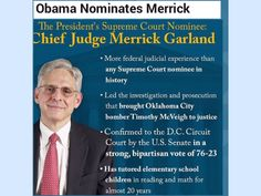 "#POTUS #BarackObama #nominated federal appeals #courtjudge #MerrickGarland to the #SupremeCourt on Wednesday to replace the late Justice Antonin Scalia, a move that sets up a confrontation with Republicans.  Obama said Garland is ""widely recognized as one of one America's sharpest legal minds"" and ""uniquely prepared to serve immediately"" on the Supreme Court.  The #president said Garland would bring a spirit of modesty, integrity and even-handedness to the nation's highest court and praised…"