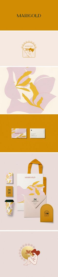 Marigold Coffee & Flower shop in San Fransisco Brand Identity by Cocorrina