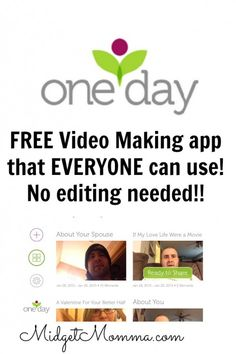 have fun with the Oneday app and make videos with out any editing needed! #sponsored