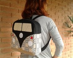 Love And Lust, Hippie Art, Vw Volkswagen, Fabric Bags, Clothing Patterns, Little Girls, Patches, Backpacks, Couture