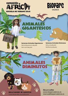 Cartel de EXPEDICIÓN ÁFRICA, la escuela de verano 2016 de BIOPARC Valencia para niños y niñas de 5 a 12 años. Más información: www.bioparcvalencia.es